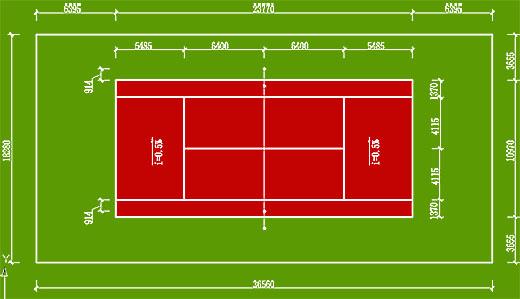 篮球场地和羽毛球场地的标准尺寸 东莞中星体育设施